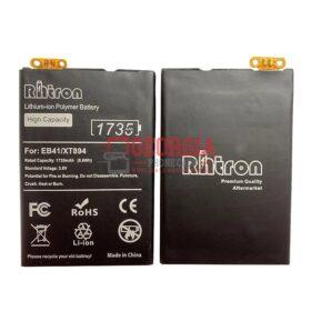 3.82V 1735mAh Motorola XT897 XT894 XT898 P893 Droid 4 PHOTON EB-41 EB41 XT894 Premium RHTRON Battery internal (High Capacity)