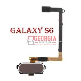 GOLD Samsung GALAXY S6 Home Button Sensor Flex Cable Black Substitute G920 (High Quality - Substitute Part)