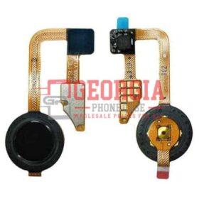 LG G6 BLACK Home Button Fingerprint Sensor Power Button Flex Cable Black Substitute