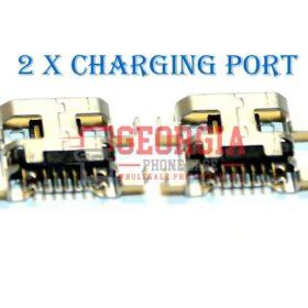2 X New LG K10 MS428 K425 K428 PREMIER L62VL Micro USB Charging Port Plug USA (High Quality - Substitute Part)