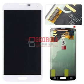 LCD Screen and Digitizer Touch Screen for Samsung Galaxy S5 G900 WHITE (High Quality - Substitute Part)
