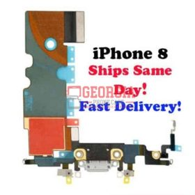 iPhone 8 Gray Lightning Charging Port Dock Flex Cable (High Quality - Substitute Part)