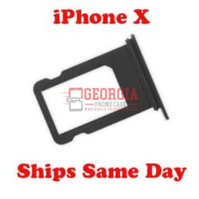 Sim Card Black Tray Holder for iPhone X 5.8 Substitute (High Quality - Substitute Part)