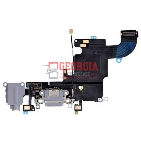 iPhone 6S GRAY Charging Port with Flex Cable, Earphone Jack and Mic (High Quality - Substitute Part)