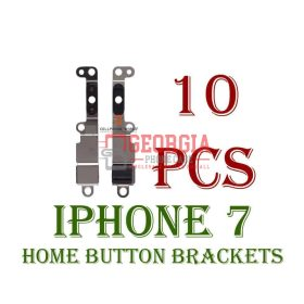 10x iPhone 7 Home Return Button Metal Retaining Bracket (High Quality - Substitute Part)