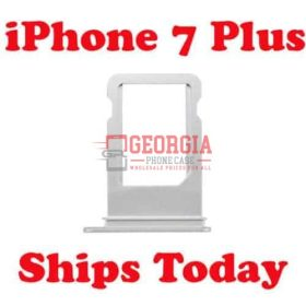 """iPhone Silver 7 Plus 5.5"""" Sim Card Holder Slot Sim Card Tray (High Quality - Substitute Part)"""