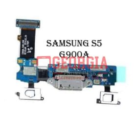 Charging Port Flex Cable with Earphone Jack and Sensor for Samsung Galaxy S5 G900A (High Quality - Substitute Part)
