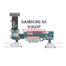 Charging Port Flex Cable with Earphone Jack and Sensor for Samsung Galaxy S5 G900P (High Quality - Substitute Part)