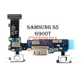Charging Port Flex Cable with Earphone Jack and Sensor for Samsung Galaxy S5 G900T (High Quality - Substitute Part)
