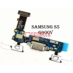 Charging Port Flex Cable with Earphone Jack and Sensor for Samsung Galaxy S5 900V (High Quality - Substitute Part)