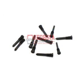 10 x Bottom Pentalobe Star Screws for iPhone X - Black (High Quality - Substitute Part)