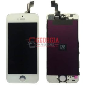 LCD Screen Display with Touch Digitizer Assembly and Frame for iPhone 5S/ iPhone SE - White (High Quality - Substitute Part)