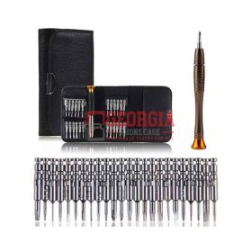 25 in 1 Cellphone Computer Repair Opening Tool Kit Phillips Mini Screwdriver Set (High Quality - Substitute Part)