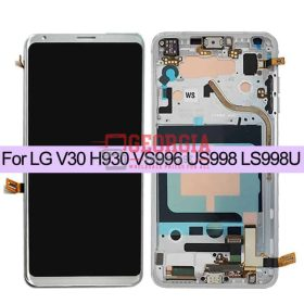 For LG V30+/V30 Plus SILVER H930DS US998 LS998U LCD Touch Screen Digitizer+Frame QC