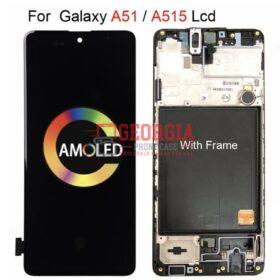 For Samsung Galaxy A51 2019 SM-A515U SM-A515U1 LCD Display with Frame
