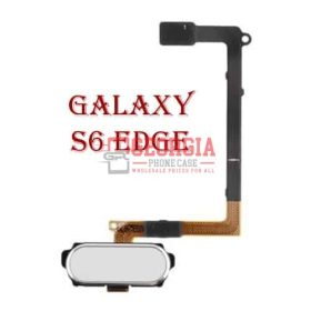 Samsung Galaxy S6 Edge Home Button Sensor Flex Cable White Substitute G925 (High Quality - Substitute Part)