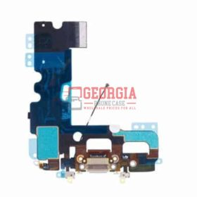 iPhone 7 White Charging Dock Port Flex Cable with Microphones Antenna (High Quality - Substitute Part)