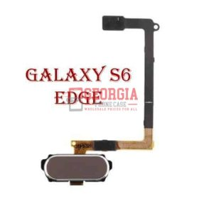 Samsung Galaxy S6 Edge Home Button Sensor Flex Cable GOLD Substitute G925 (High Quality - Substitute Part)