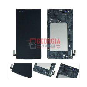LG Tribute LS676 K6B F740 K200 Black LCD Display Touch Screen Digitizer Frame