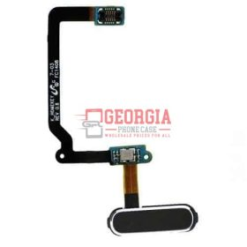Samsung Galaxy S5 Black Home Button Fingerprint Flex Cable Substitute New (High Quality - Substitute Part)