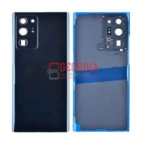 Back Cover with Camera Glass Lens and Adhesive Tape for Samsung Galaxy Note 20 Ultra - Mystic Black