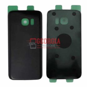 Substitute Back Battery Cover for Samsung Galaxy S7 Edge Black (High Quality - Substitute Part)