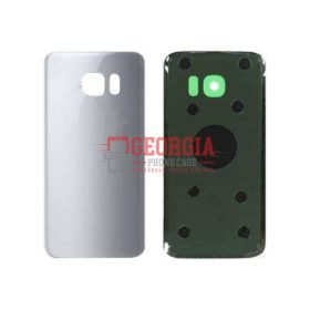 Substitute Back Battery Cover for Samsung Galaxy S7 Edge Silver (High Quality - Substitute Part)