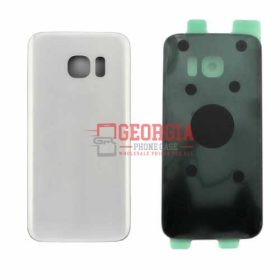 Substitute Back Battery Cover for Samsung Galaxy S7 Edge White (High Quality - Substitute Part)