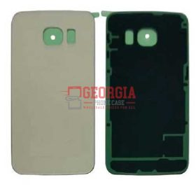 Back Housing Glass Cover for Samsung Galaxy S6 Edge PLUS G928 GOLD (High Quality - Substitute Part)