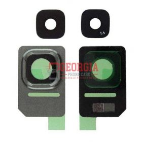Rear Camera Glass Lens and Cover Bezel Ring for Samsung Galaxy S7 Active G891 - Green (High Quality - Substitute Part)