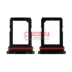 Sim Card Tray for Samsung Galaxy S6 Active G890 - Black (High Quality - Substitute Part)