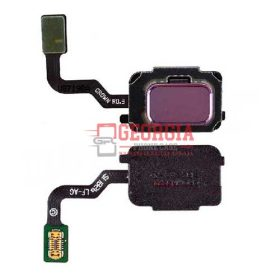 Home Button with Flex Cable,Connector and Fingerprint Scanner Sensor for Samsung Galaxy Note 9 N960 - Purple (High Quality - Substitute Part)