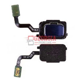 Home Button with Flex Cable,Connector and Fingerprint Scanner Sensor for Samsung Galaxy Note 9 N960 - Blue (High Quality - Substitute Part)