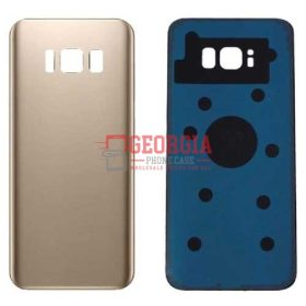 Samsung Galaxy S8 Plus G955 Gold Back Housing Glass Cover Battery Door