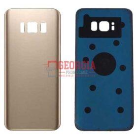 Samsung Galaxy S8 G950 Gold Back Housing Glass Cover Battery Door