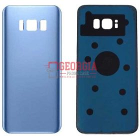 Samsung Galaxy S8 G950 Blue Back Housing Glass Cover Battery Door