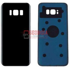 Samsung Galaxy S8 G950 Black Back Housing Glass Cover Battery Door