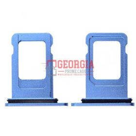 Sim Card Tray for iPhone XR (6.1 inches)(Single Simcard Vers) - Blue (High Quality - Substitute Part)