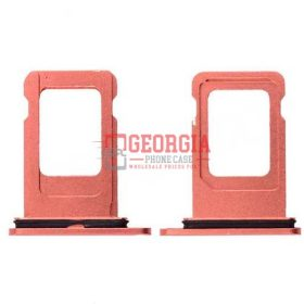 Sim Card Tray for iPhone XR (6.1 inches)(Single Simcard Vers) - Coral (High Quality - Substitute Part)