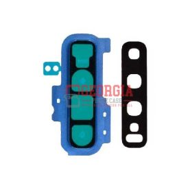 Rear Camera Glass Lens and Cover Bezel Ring for Samsung Galaxy S10 Plus G975 - Blue