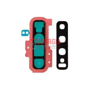 Rear Camera Glass Lens and Cover Bezel Ring for Samsung Galaxy S10 Plus G975 - Flamingo Pink