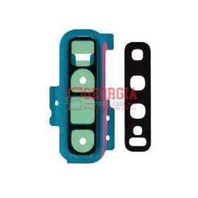 Rear Camera Glass Lens and Cover Bezel Ring for Samsung Galaxy S10 Plus G975 - Green