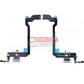 Gray Charging Port with Flex Cable for iPhone XS(5.8 inches)