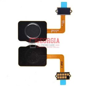 Home Button with Flex Cable,Connector and Fingerprint Scanner Sensor for LG Stylo 4 Q710 – Black (High Quality - Substitute Part)