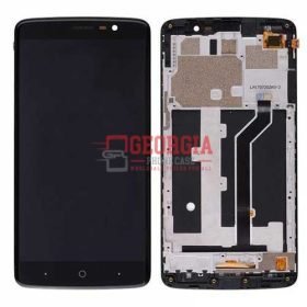 LCD Screen Display with Touch Digitizer Panel and Bezel Frame for ZTE MAX XL N9560 – Black