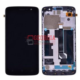 LCD Screen Display with Digitizer Touch Panel and Bezel Frame for ZTE Blade Spark Z971 – Black