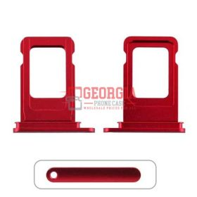 Sim Card Tray for iPhone 11(6.1 inches)(Single SIM Card Version) – Red