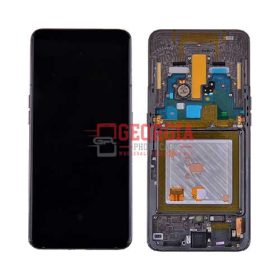 LCD Screen Display with Digitizer Touch Panel and Frame for Samsung Galaxy A80 2019 A805 (Black Frame) – Black