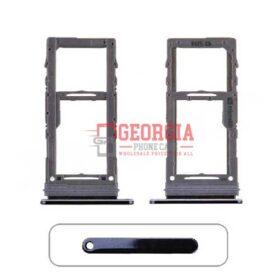 Black Sim Card Tray and MicroSD Card Tray for Samsung Galaxy Note 10 Plus N975(Single SIM Card Version)