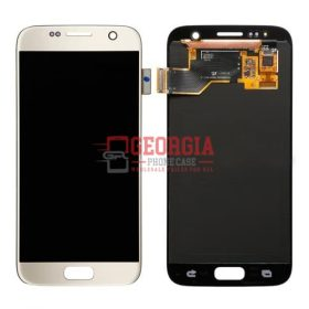 LCD And Touch Screen Assembly for Samsung Galaxy S7 Gold (Premium Quality) (High Quality - Substitute Part)